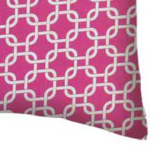 Percale Pillow Case - Hot Pink Links