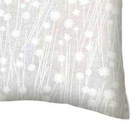 Percale Pillow Case - White On White Floral Stems