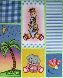Basket - Large Jungle Animal Patch - Fitted - 100% Cotton Percale - Cuddlies Basket Sheets