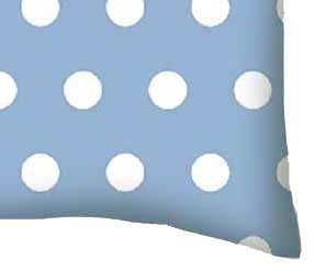 Percale Pillow Case - Polka Dots Blue