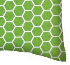 Percale Pillow Case - Citrus Honeycomb