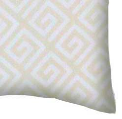 Percale Pillow Case - Geo Cream