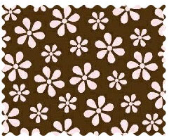 Fabric Shop - Pink Floral Brown Woven Fabric - Yard - 100% Cotton Woven - Primary Polka Dots Fabric Shop