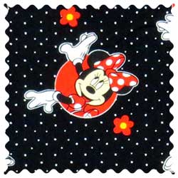 Minnie Mouse Dots Fabric
