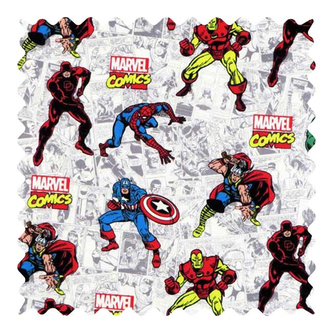 Marvel Comics Fabric - 100% Cotton - 10 x 23 inches