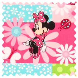 Minnie Mouse Patch Fabric