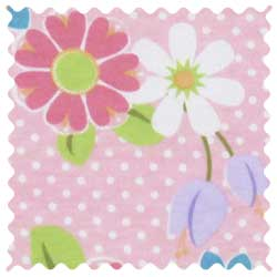 Floral Pink Dot Knit Fabric