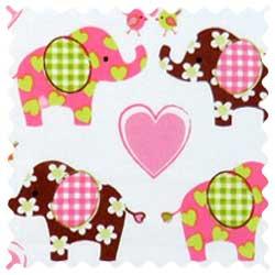 Elephant Love Fabric