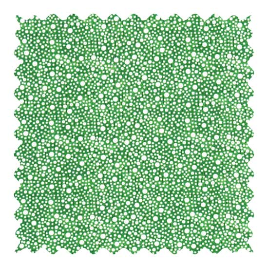 Confetti Dots Green Fabric - 100% Cotton - 21 x 53 inches