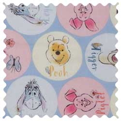 Pooh & Friends Circles Fabric