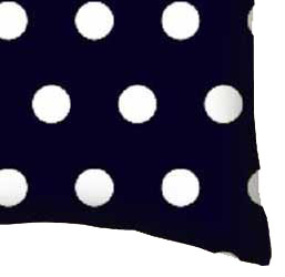 Percale Pillow Case - Polka Dots Navy