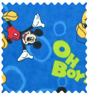 Fabric Shop - Oh Boy Mickey Mouse Fabric - Yard - 100% Cotton Flannel - Character Prints Fabric Shop