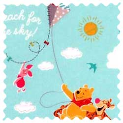 Pooh & Friends Aqua Fabric