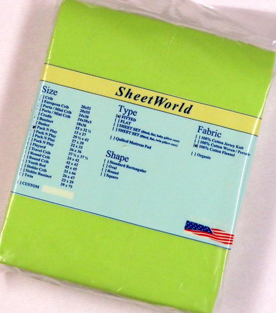 Solid Lime Cotton Flannel Fitted Pack N Play Sheet - Fits Graco - 29 x 42