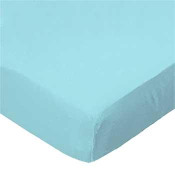 Solid Aqua Woven