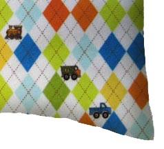 Flannel Pillow Case - Argyle Transport