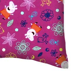 Percale Pillow Case - Peppa Pig Flowers