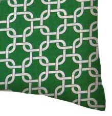 Percale Pillow Case - Green Links