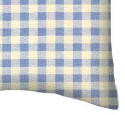 Percale Pillow Case - Blue Gingham Check