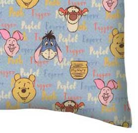 Flannel Pillow Case - Pooh & Friends