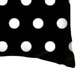 Percale Pillow Case - Polka Dots Black