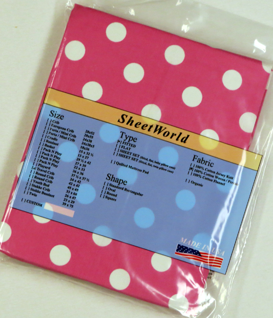 Polka Dots Pink Cotton Travel Lite Playard Sheet - Fits BabyBjorn 24 x 42
