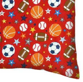 Flannel Pillow Case - Sports Red