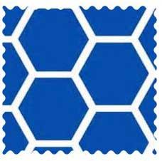 Royal Blue Honeycomb Fabric