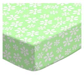 Pastel Green Floral Woven