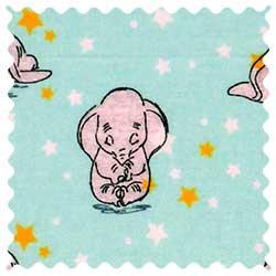 Dumbo Aqua Fabric