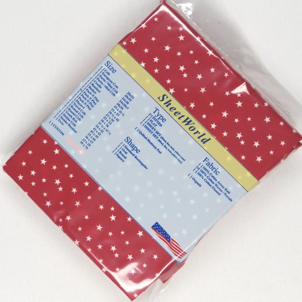 Cloudy Stars Red - Fitted Pack N Play Sheet - Fits Graco - 27 x 39