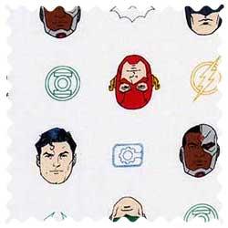 Superheroes Fabric