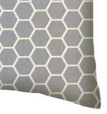 Percale Pillow Case - Grey Honeycomb