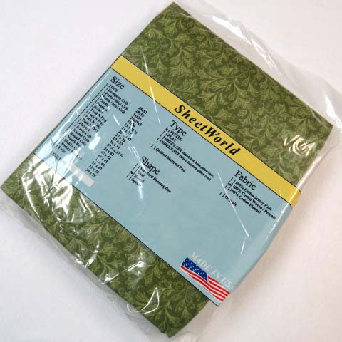 Green Leaves Cotton Round Crib Sheet
