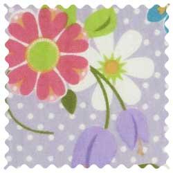 Floral Lavender Dot Knit Fabric