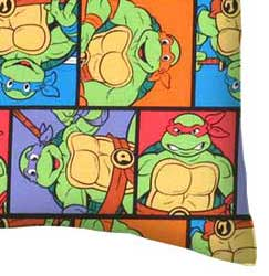 Percale Pillow Case - Ninja Turtles Poses