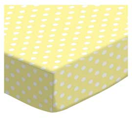 100% Cotton Woven - Pastel Polka Dots Round Crib Sheets