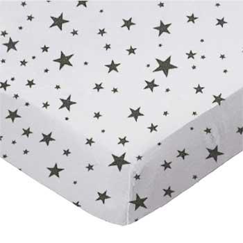 Gray Stars Jersey Knit