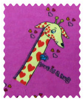 Giraffes Hot Pink Fabric