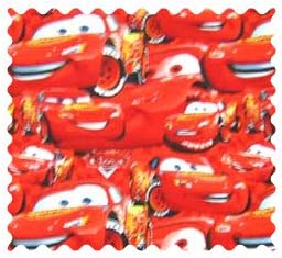 Fabric Shop - Lightning McQueen Fabric - Yard - 100% Cotton Percale - Character Prints - Kid Characters Fabric Shop