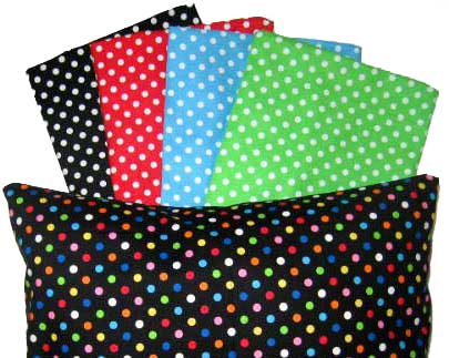 Percale Pillow Cases - Primary Polka Dot Collection