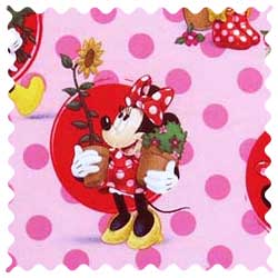 Minnie Mouse Pink Fabric
