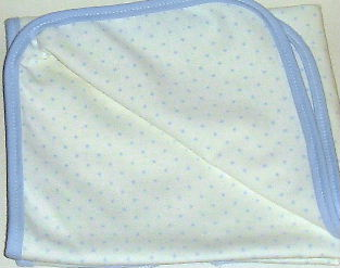 Blue Pindot Receiving Blanket