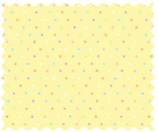 Fabric Shop - Pastel Colorful Pindots Yellow Woven Fabric - Yard - 100% Cotton Woven - Primary Polka Dots Fabric Shop