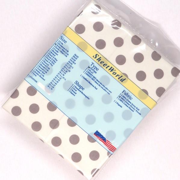 Grey Dots Cream Cotton Woven Portable / Mini Crib Sheet - 24 x 38