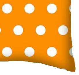 Percale Pillow Case - Polka Dots Gold