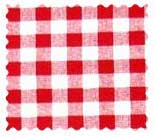 Red Gingham Check Fabric