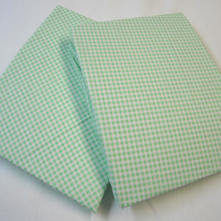 2 Pack Green Gingham Round Crib Sheet