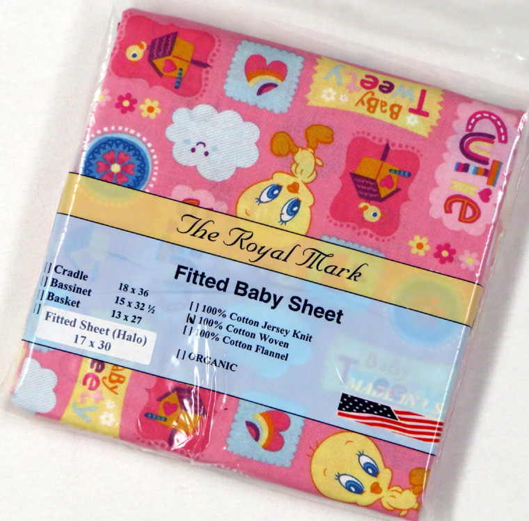 Tweety Bird Pink Cotton Bassinest Sheet - Fits Halo