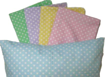 Percale Pillow Cases - Pastel Polka Dot Collection